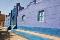 エジプト ヌビア人のカラフルな民家(アスワン地方)