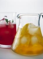 レモンティとクランベリージュース