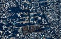 新宿西口の高層ビル群周辺(俯瞰撮影高度1,800M)