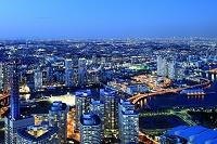 神奈川県 ランドマークタワーより望む都会の夜景