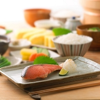 焼き鮭の食卓
