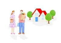 若い夫婦と一軒家