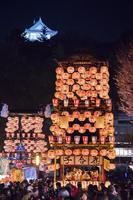 愛知県 犬山祭 夜車山と犬山城