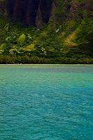 ハワイ オアフ島 コオラウ山脈 クアロアのビーチ