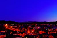 北海道 郊外の住宅街夕景