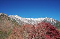 岐阜県 笠ヶ岳と抜戸岳と紅葉