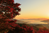 京都府 大内峠からの天橋立の朝焼け