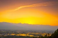 長野県 安曇野の夕日