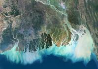 インド 衛星写真 ガンジス・デルタ