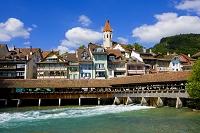 スイス ベルン 川と街並み