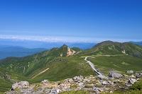岐阜県 大黒岳から乗鞍スカイラインと烏帽子岳