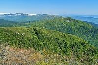 三重県 御在所岳から北部の山々遠望