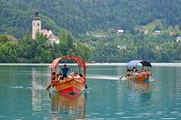 スロベニア ブレッド湖 手漕ぎボート