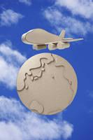 クラフト 地球と飛行機   (ペーパークラフト)