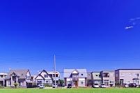 新興住宅地の家並み