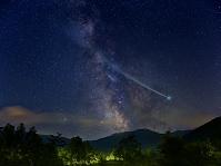 天の川と彗星