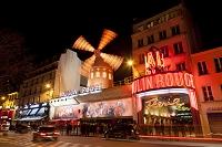 フランス パリ モンマルトル ムーラン・ルージュ 夜景