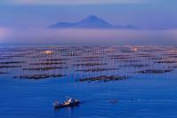 熊本県 海苔ひびと漁船