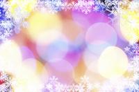 イルミネーションと雪の結晶