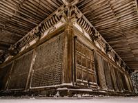 福井県 雪の明通寺 本堂
