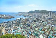 韓国 釜山タワーより望む釜山の街並み