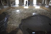 インド バーラトマーター寺院・大理石のインド地図