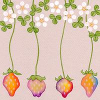 苺の花と実 春