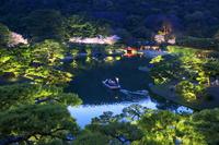 香川県 栗林公園の夕景