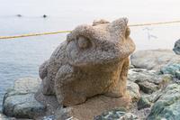 三重県 二見興玉神社 二見蛙の石像
