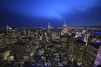 エンパイアステートビルとマンハッタンの街並み夜景