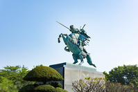 霞城公園 最上義光騎馬像