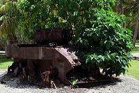 サイパン 戦車の残骸