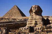 エジプト スフィンクスとメンカウラー王のピラミッド
