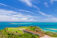 沖縄県 夏の太平洋を望む知念岬公園