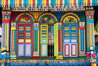 シンガポール リトル・インディア カラフルな家