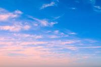 美しい夕方の空