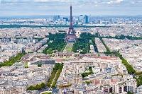 フランス パリ モンパルナスタワーからの眺望 エッフェル塔