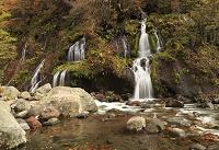 山梨県 紅葉の吐竜の滝