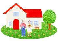日本人シニア夫婦と一軒家