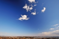 神奈川県 相模原市 城山湖から見た関東平野