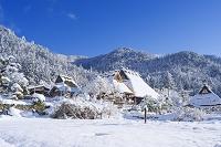 日本 京都府 美山町 かやぶきの里雪景色