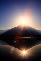 静岡県 田貫湖からダイヤモンド富士