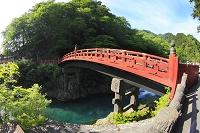 栃木県 日光二荒山神社の神橋と大谷川