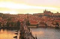 チェコ プラハ歴史地域 カレル橋塔からの眺め