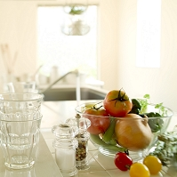 野菜とキッチン