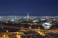 大阪府 咲洲庁舎展望台から望む 大阪の街並みの夜景 あべのハ...