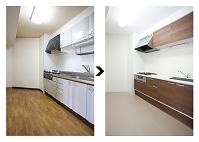 リフォームのビフォア&アフター システムキッチン