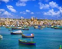 マルタ マーサシュロック 港と町並み