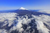 静岡県 富士山(富士市上空付近より)