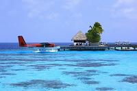 モルディブ コテージと飛行機